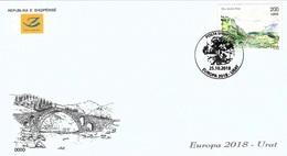 Albania Stamps 2018. CEPT Europa/Europe: Bridges.  FDC Set. MNH - Albania
