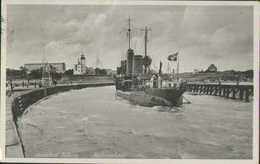 Ostseebad Kolberg, Hafeneinfahrt, Kriegsmarine, Postkarte, Drittes Reich, Deutsches Reich, Militär - Weltkrieg 1939-45