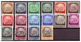 Luxemburg,  Nr. 1-16, Gestempelt - Besetzungen 1938-45