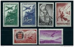 """Monaco Aerien YT 2 à 7 (PA) """" Symboles """" 1941 Neuf** - Poste Aérienne"""