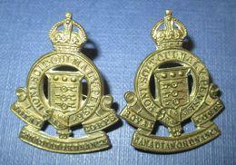 Paire De Collar Canada WW2 RCAOC - 1939-45