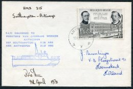 1972 Belgium GB Antwerp - Southampton Hoovercarft Cover SIGNED - Belgium