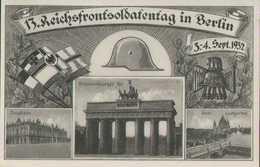 Berlin, 13. Reichsfrontsoldatentag 1932, Zeughaus, Brandenburger Tor, Postkarte, Drittes Reich, Deutsches Reich, Militär - Guerra 1939-45