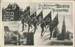Nürnberg, Stadt Der Reichsparteitage, N.S.D.A.P., Dürer Haus, Pegnitz, Brunnen, Deutsches Reich, Postkarte, Militär - Guerra 1939-45