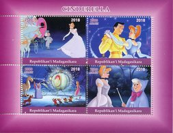 Madagascar 2018 MNH Cinderella 4v M/S Disney Cartoons Animation Stamps - Disney