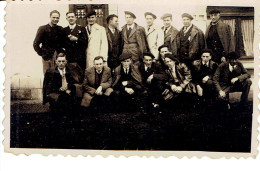 Photo De Groupe De Copains Du Pays Basque, Années 1940 Format 6/8 - Krieg, Militär