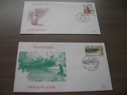 """BELG.1996 2640 & 2641  FDC's : """" Tourisme """" - 1991-00"""