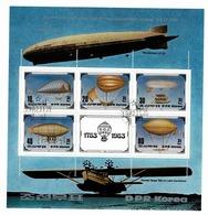 "N Korea 1982 - Mi Bl 134 - 200th Anniversary Of The First Manned Balloon Flight ""airship""  Obl. -  Gebr. - Used - Corée Du Nord"