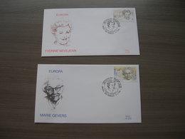 "BELG.1996 2636 & 2637 FDC's (Brus/Brux) : "" Europa 1996 ""- Femmes Célèbres,Beroemde Vrouwen : Nevejean & Gevers "" - 1991-00"