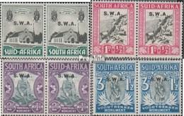 Namibia - Südwestafrika 172-179 Waagerechte Paare (kompl.Ausg.) Mit Falz 1935 Voortrekker-Marken - Afrique Du Sud-Ouest (1923-1990)