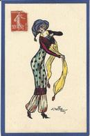 CPA NAILLOD Femme Girl Women Circulé Glamour Mode Chapeau - Naillod
