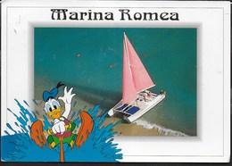PAPERINO SCIATORE A MARINA ROMEA - FORMATO GRANDE 17X12 - VIAGGIATA 1997 - Fumetti