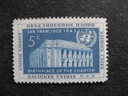 O.N.U. Siège New-York: TB N°12, Neuf XX. - Ungebraucht
