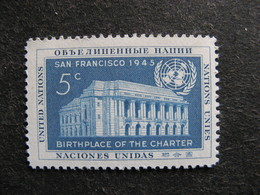 O.N.U. Siège New-York: TB N°12, Neuf XX. - New York -  VN Hauptquartier