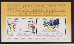 ILES COCOS  1984 BLOC  AUTO-DETERMINATION  YVERT N°B4 NEUF MNH** - Cocos (Keeling) Islands