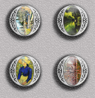 Vincent Van Gogh Painting Fan ART BADGE BUTTON PIN SET 7 (1inch/25mm Diameter) 35 DIFF - Pin