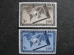 O.N.U. Siège De New-York: TB Paire N° 17 Et N°18, Neufs XX. - New York -  VN Hauptquartier