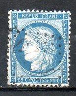 FRANCE - 1871 - Emission Dutype Cérès , IIIème République - N° 60A - 25 C. Bleu (Type I) - 1871-1875 Ceres