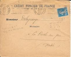 TIMBRE N° 140 III C -  TARIF DU 1 4 1920 - FLAMME N° B 0811 031 K - PARIS 81  - 1923 - Postmark Collection (Covers)