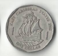 Eastern Caribbean 1 Dollar, 2002 - Caraïbes Orientales (Etats Des)
