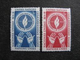 O.N.U. Siège De New-York: TB Paire N° 21 Et N°22, Neufs XX. - New York -  VN Hauptquartier