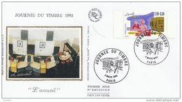 FDC France 1992   Journée Du Timbre 1992 - 7 MARS 1992 - 1990-1999