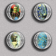 Vincent Van Gogh Painting Fan ART BADGE BUTTON PIN SET 8 (1inch/25mm Diameter) 35 DIFF - Pins