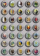 Vincent Van Gogh Painting Fan ART BADGE BUTTON PIN SET 9 (1inch/25mm Diameter) 35 DIFF - Pins