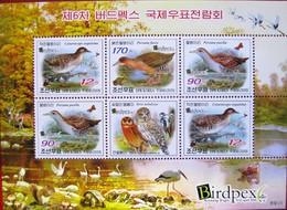 Korea 2009  Birds  Sheet  MNH - Vögel