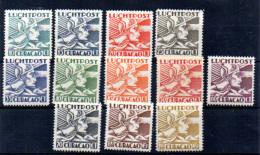 Curaçao 1931, Mercure, PA 4 / 15** (pas 7A – 11*), Cote 57 € - Curaçao, Antilles Neérlandaises, Aruba