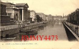 CPA - Le Palais De Justice Et Les Quais De La Deule Bien Animés - LILLE 59 Nord - N° 49 - L.L. - Lille