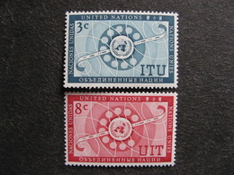 O.N.U. Siège De New-York: TB Paire N° 40 Et N°41, Neufs XX. - New York -  VN Hauptquartier