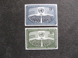 O.N.U. Siège De New-York: TB Paire N° 44 Et N°45, Neufs XX. - New York -  VN Hauptquartier