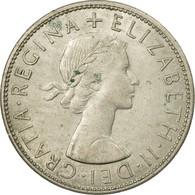 Monnaie, Grande-Bretagne, Elizabeth II, 1/2 Crown, 1966, TB+, Copper-nickel - 1902-1971 : Monnaies Post-Victoriennes