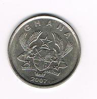 &  GHANA  20 PESEWAS   2007 - Ghana