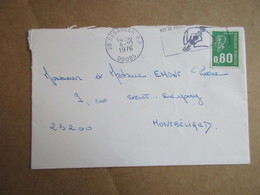 Enveloppe Avec Oblitération Flamme - Besançon - Marcophilie (Lettres)