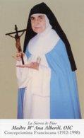 Santino SIERVA DE DIOS MADRE MARIA ANA ALBERDI OIC Concepcionista Franciscana - PERFETTO P82 - Religione & Esoterismo