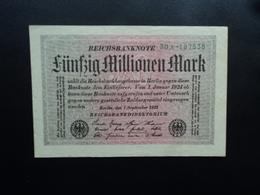 ALLEMAGNE : 50 MILLIONEN MARK   1.9.1923    P 109a      TTB+ - [ 3] 1918-1933 : Repubblica  Di Weimar