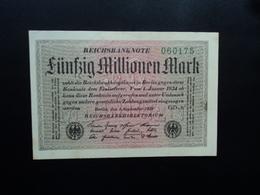 ALLEMAGNE : 50 MILLIONEN MARK   1.9.1923    P 109f     Presque SPL  * - [ 3] 1918-1933: Weimarrepubliek