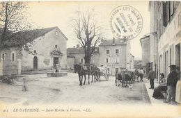 St Saint-Martin-en-Vercors (Drôme) - Place, Mairie, Hôtel, Eglise, Attelage - Carte LL N° 415 - Francia
