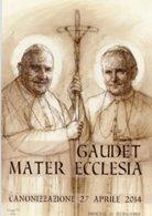 Santino CANONIZZAZIONE PAPI, GIOVANNI XXIII E GIOVANNI PAOLO II, GAUDET MATER ECCLESIA, 27/4/2014 - PERFETTO P82 - Religione & Esoterismo