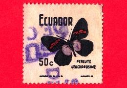 ECUADOR - Usato - 1970 - Farfalla - Butterfly (Pereute Leucodrosime) - 50 - Ecuador