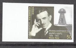 Georgia 2006 Michel # 520 Nikola Tesla MNH ** IMPERFORATED!!! RARE!!! - Georgia