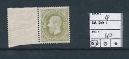 BELGIAN CONGO 1886 ISSUE COB 4 MNH - Congo Belge