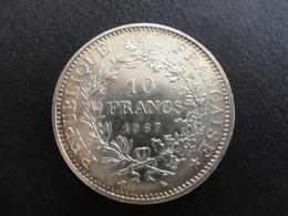 10 FRANCS HERCULE ARGENT 1967 - K. 10 Franchi