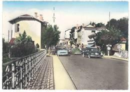 Cpsm Hendaye - Frontière Franco-Espagnole - Le Pont International Côté France ( Automobiles , Douane, Simca ...) - Hendaye