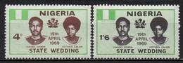 Nigeria - 1969 - Yvert N° 228 & 229 **  - Mariage Du Major-Général Yakubu Gowon - Nigeria (1961-...)