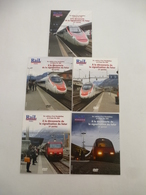 SUISSE Ligne Du SIMPLON : EN CABINE D'un PENDOLINO ETR 610 Puis D'une Loco Re 460 Avec L'ERTMS  - LOT De 5 DVD - Documentary