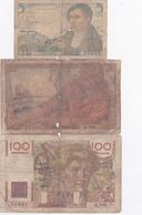 Lot De 3 Billets Français. - 1871-1952 Anciens Francs Circulés Au XXème