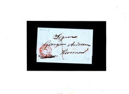 ITALIA 1858 'LIVORNO VIA DI MARE C' Rosso , Lerttera Da Genova - Italie